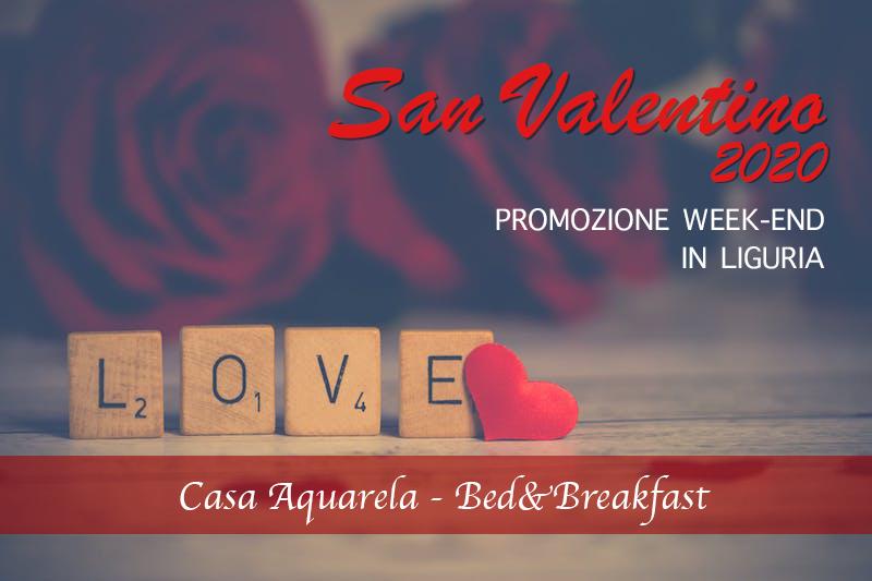 Camera per coppia in Promozione per un Week End di S. Valentino 2020 in LIGURIA